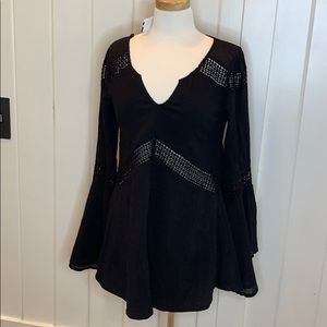 L*Space Black swim cover up size small